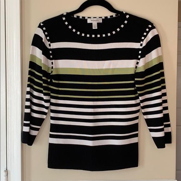 Dress Barn Tops - Dress Barn Striped 3/4 Sleeve Top Sz S